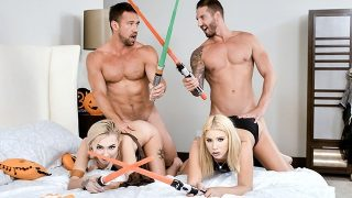 Two Star Wars Whores Swap Their Dads And Fuck Them