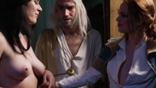 Geralt from Witcher Fucking Two Medieval Sluts in a Threesome