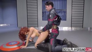 Black Widow Cosplay Girl Fucked By Captain America In Avengers XXX Parody