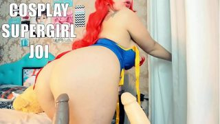 Extremely Hot Big Tits Supergirl Cosplayer Giving You JOI