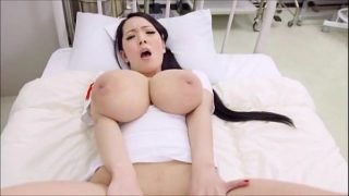 Massive Tit Asian Nurse Cosplayer Masturbating In Bed